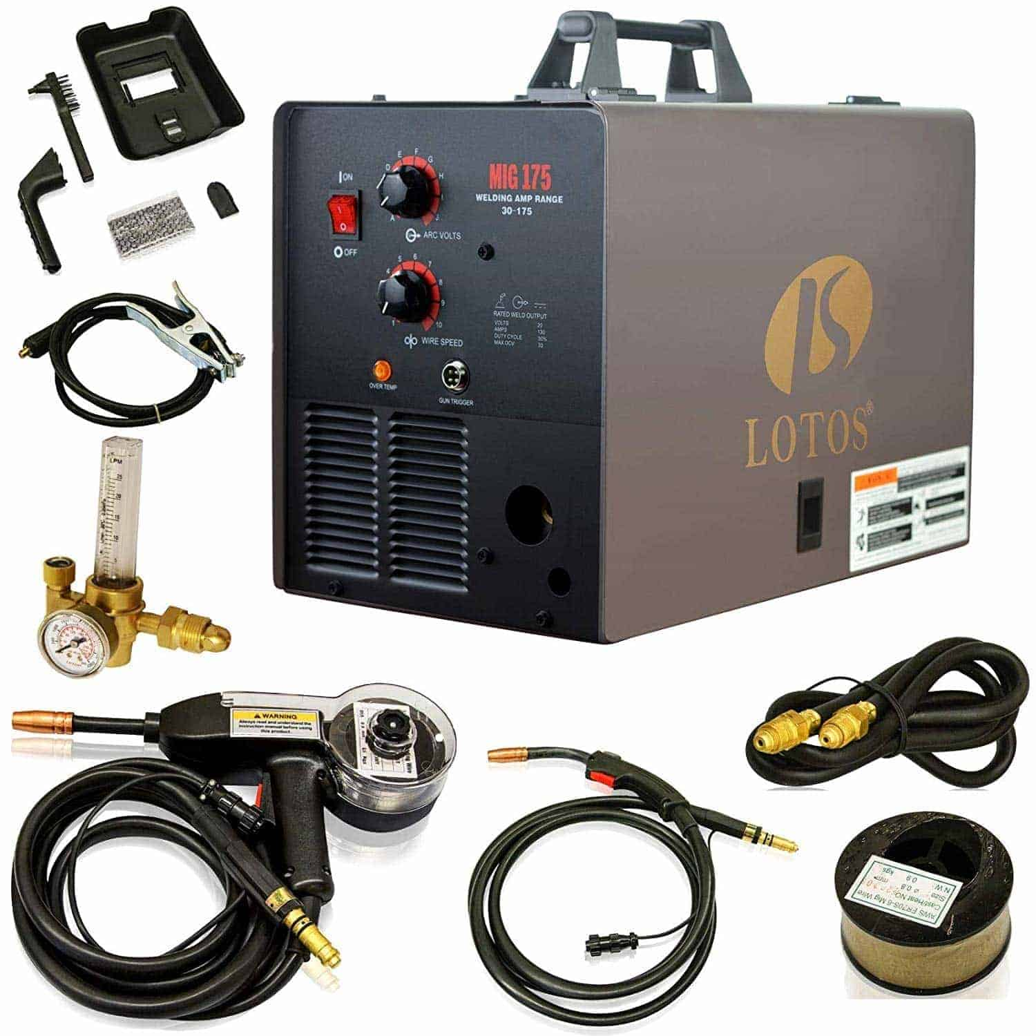 LOTOS MIG175 - Best Aluminum Welder for Beginners and Experts