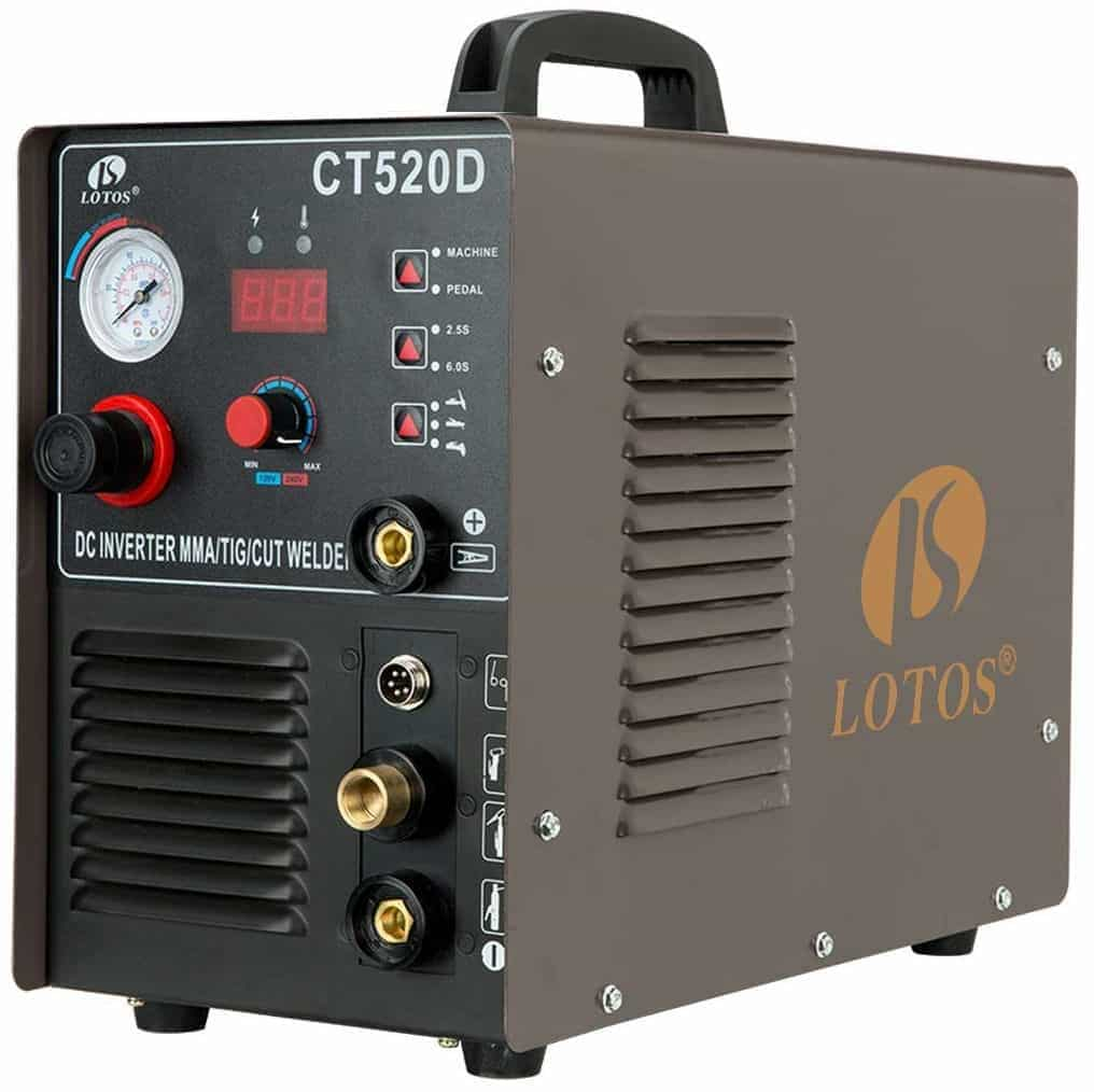 Lotos CT520D 50 AMP Air Plasma Cutter, 200 AMP Tig and Stick/MMA/ARC Welder