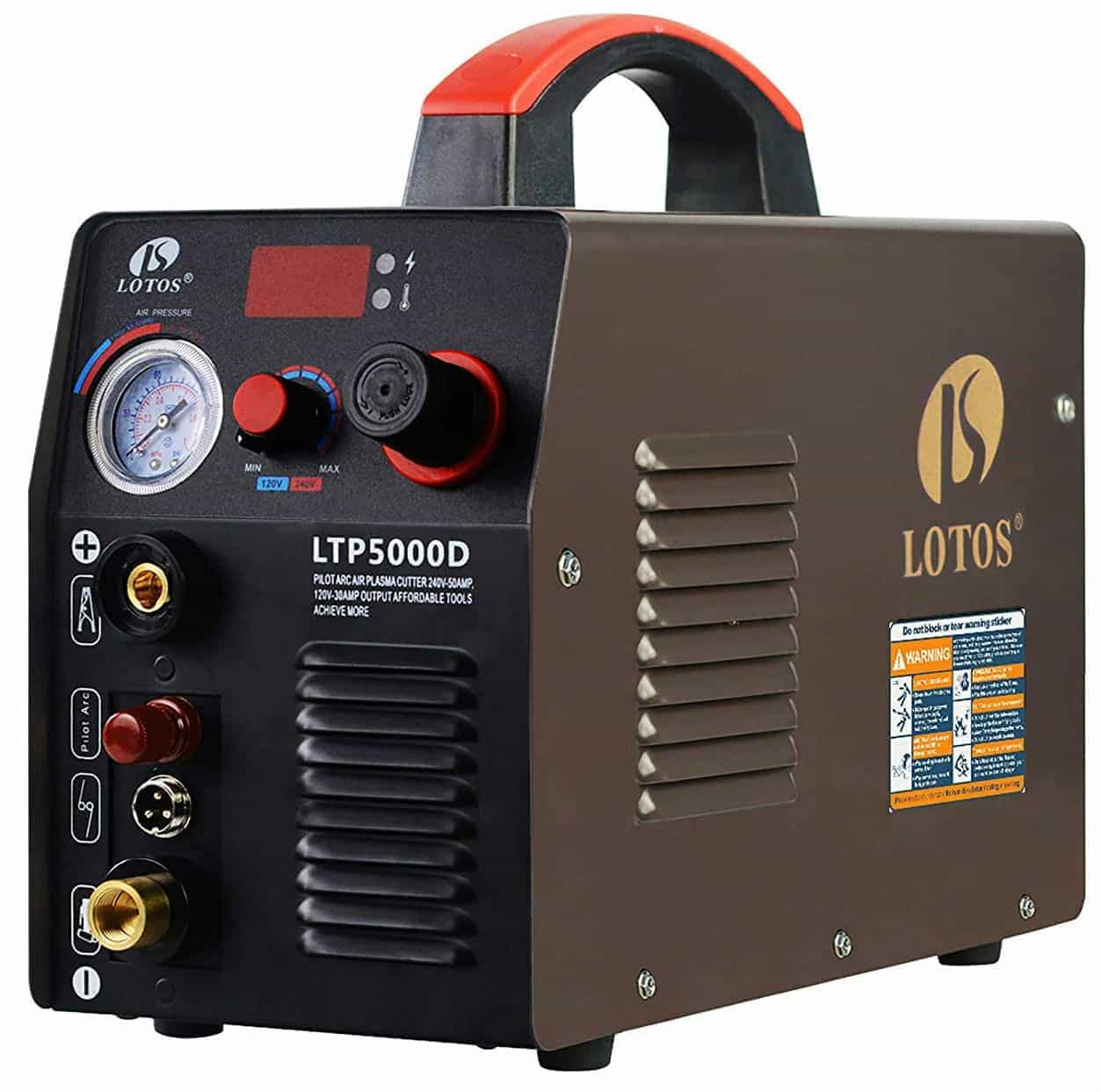 Lotos LTP5000D 50Amp Non-Touch Pilot Arc Plasma Cutter, Dual Voltage 110V and 220V