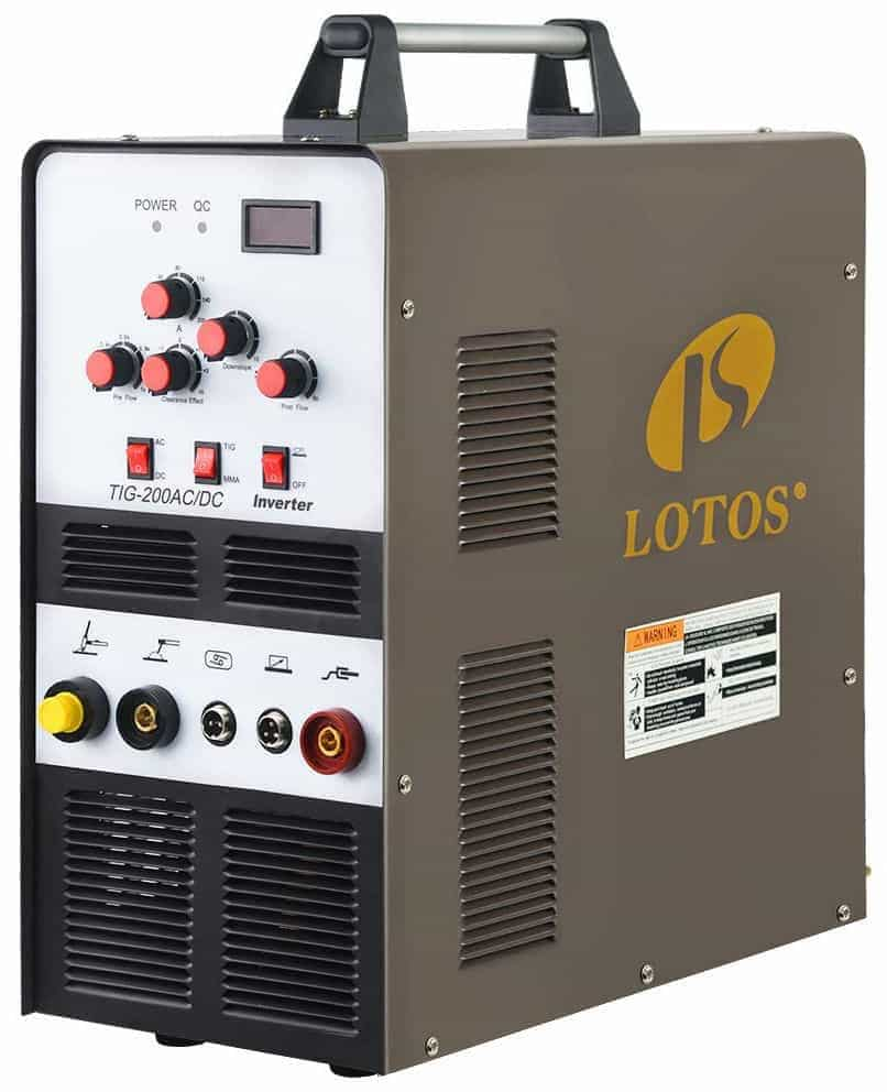 Lotos TIG200ACDC 200A AC/DC Tig Welder for Aluminum with DC Stick/Arc Welder