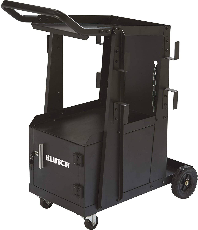 Klutch-2-Tier-Welding-Cart-with-Locking-Cabinet