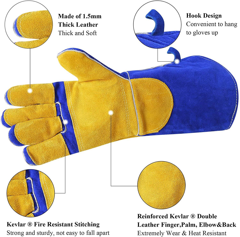 RAPICCA Leather Forge Heat Resistant MIG Welding Gloves