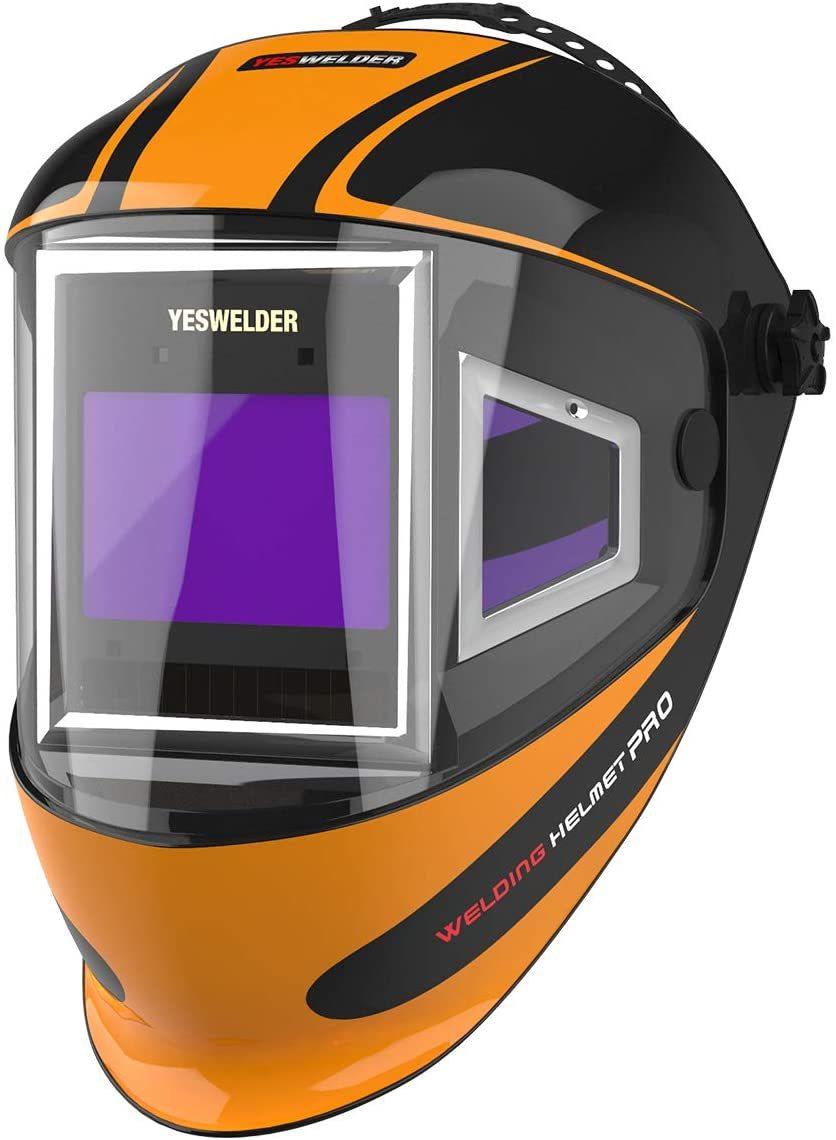 YESWELDER Panoramic 180 View Auto Darkening Welding Helmet