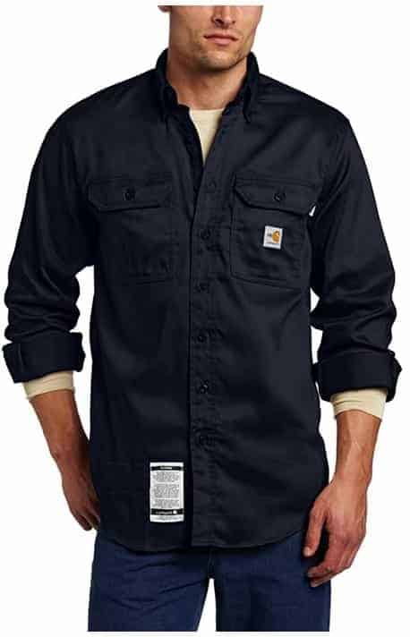 Carhartt Men's Big & Tall Flame-Resistant Lightweight Twill Shirt