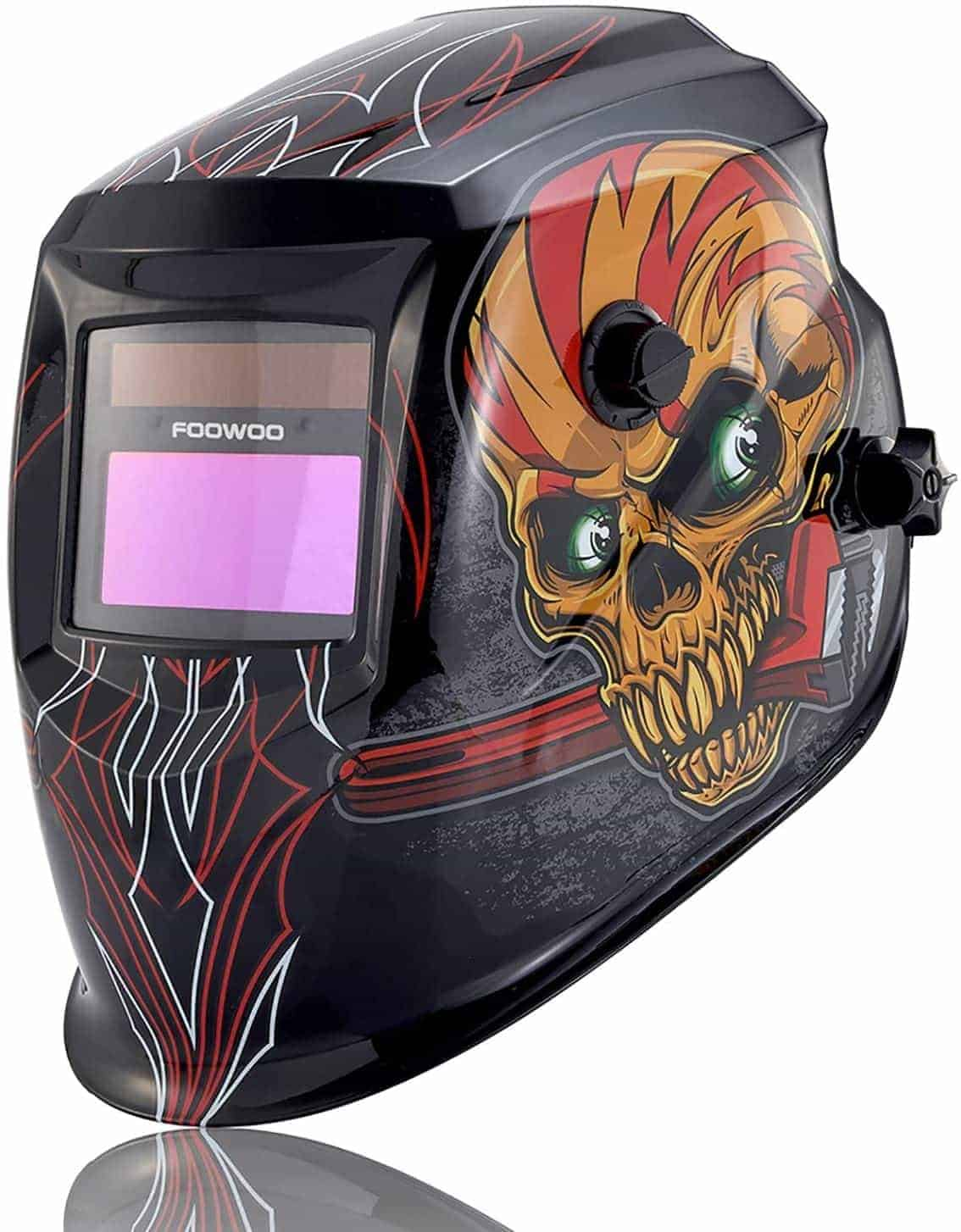 FOOWOO Solar Powered Welding Helmet with Adjustable Shade