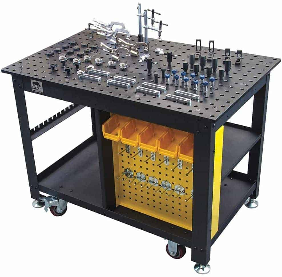 Rhino Cart Welding Table With 66 PC. Fixture Kit