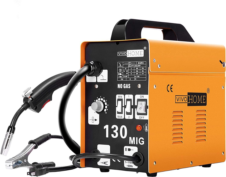 VIVOHOME Portable No Gas MIG 130 Welder Machine