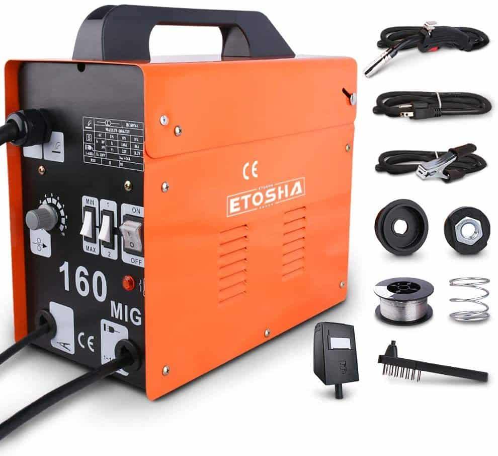ETOSHA MIG 160 Portable Flux Core Gasless Welder
