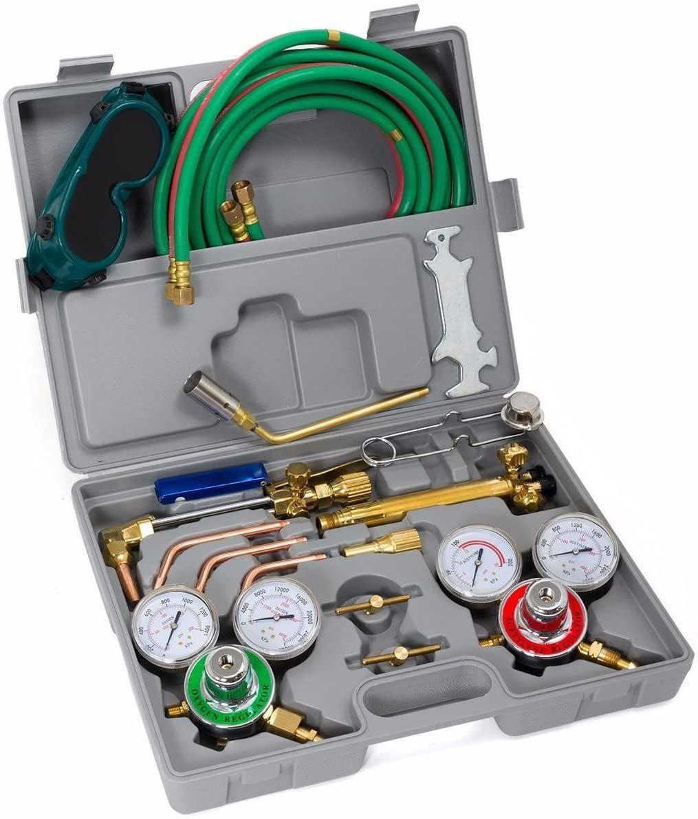 XtremepowerUS Premium Oxy Acetylene Welding Cutting Torch Kit